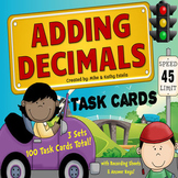 Adding Decimals Task Cards {Multiple Choice, Standard Form and Word Form}