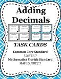 Adding Decimals Task Cards / Scoot -5.NBT.B.7