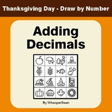 Adding Decimals - Thanksgiving Day Math & Art - Draw by Number
