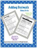 Adding Decimals Using Hundreds Grids