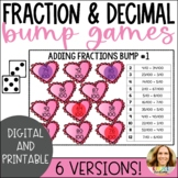 Adding Decimals and Fractional Parts of 10 and 100 Bump Game