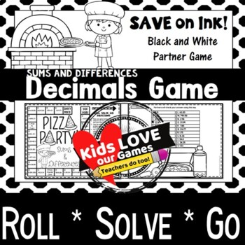 Adding Decimals and Subtracting Decimals Game: 5.NBT.B.7: 5th Grade Math Game