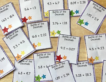 Adding Decimals and Subtracting Decimals Unit for Guided Math Workshop