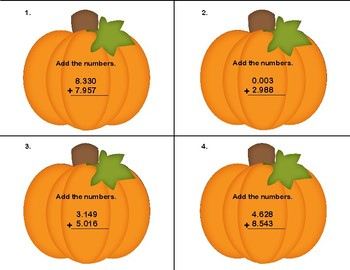 Adding Decimals to Thousandths-CCSS.Math.Content.5.NBT.B.7-Grades 5-6-Scoot
