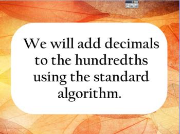 Adding Decimals to the Hundredths