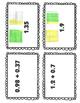 Adding Decimals using Models Matching Activity