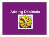 Adding Decimals with QR Codes