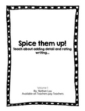 Adding Detail Worksheets (Spice Them Up Vol.1)