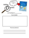 Adding Details Worksheet - Editable!