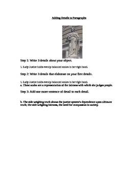 Adding Details to Paragraphs Writing Mini Lesson