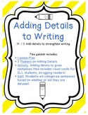 Adding Details to Writing