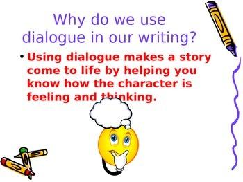 Adding Dialogue to Writing
