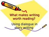 Adding Dialogue to Writing