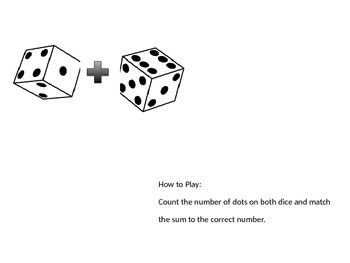 Adding Dice File Folder Game