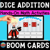 Adding Die Boom Cards Digital Dice Game