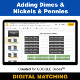 Adding Dimes & Nickels & Pennies - Google Slides - Distanc