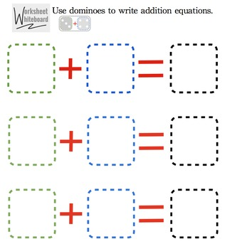 Adding Dominoes Worksheet Whiteboard