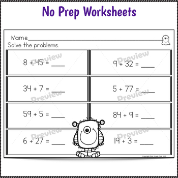Double Digit Addition with and without Regrouping Bundle