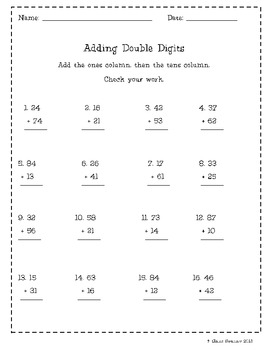 Adding Double Digits: 10s & 1s without regrouping
