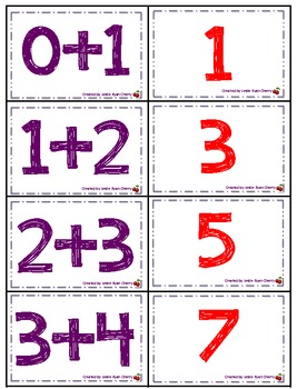 Adding Doubles +1 Memory Game - Aligned with Common Core Standards