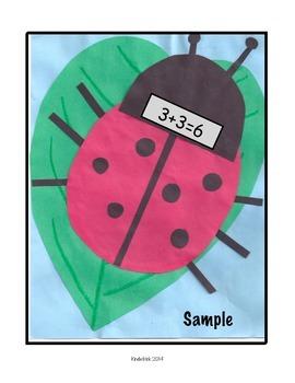 Adding Doubles- A Ladybug Math Craftivity