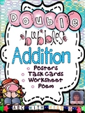 Adding Doubles-Addition Poem, Posters, Task Card/Flashcards and Worksheet