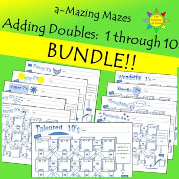 Adding Doubles Bundle a-Mazing Mazes One Through Ten
