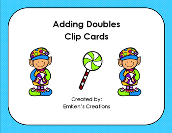 Adding Doubles Clip Cards