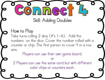 Adding Doubles Dice Game