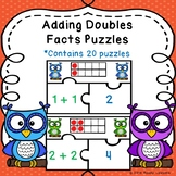 Ten Frames Adding Doubles and Doubles Plus One Game Doubles Fact Game Puzzles