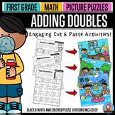 Adding Doubles - Math Picture Puzzles {1st Grade}