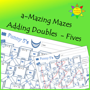 Adding Doubles Maze:  Funny Fives