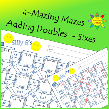 Adding Doubles Maze:  Silly Sixes