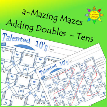 Adding Doubles Maze: Talented Tens