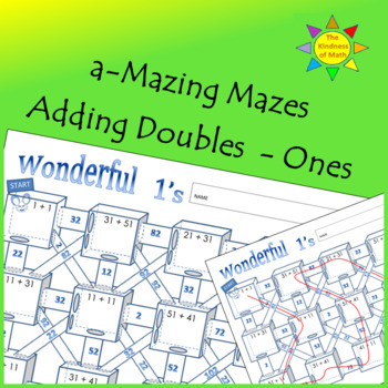 Adding Doubles Mazes:  Wonderful Ones