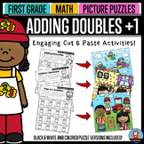 Adding Doubles Plus One - Math Picture Puzzles {1st Grade}