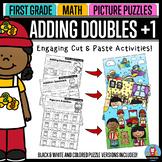 Adding Doubles Plus One - Math Picture Puzzles {1st Grade}