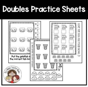 Adding Doubles Practice Pages