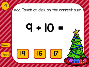 Adding Doubles and Doubles Plus 1 Nutcracker Game for Google Drive™