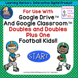 Adding Doubles and Doubles Plus One Football Kids