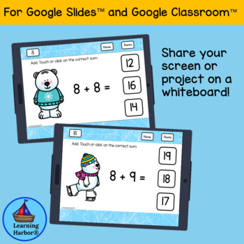 Adding Doubles and Doubles Plus One for Google Classroom™ and Google Slides™