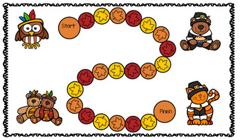 Thanksgiving Themed Math Center Activity with Clip Cards and More