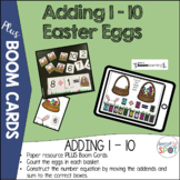 Adding Easter Eggs: A 1 - 10 interactive book PLUS BOOM CARDS