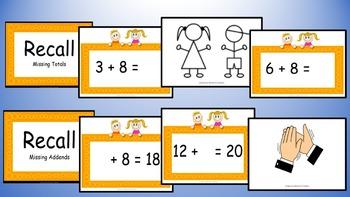 Adding Eight Addition Facts Mental Maths Game, Brain Break or Maths Warm Up