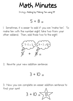 Adding Eight by Making Ten