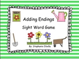 """Adding Endings """"ed"""" and """"ing"""" Sight Word Game"""