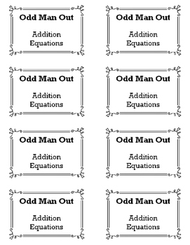 Adding Equations - Odd Man Out