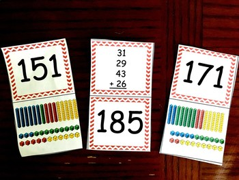 Adding FOUR Two-Digit Numbers Practice and Game