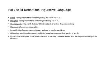 Adding Figurative Language to Your Writing