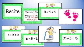 Adding Five Addition Facts Mental Maths Game, Brain Break or Maths Warm Up